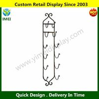 Wine Rack, Bottle Holder, Wall Bar Towel Metal Rack Display, Glass, Cabinet
