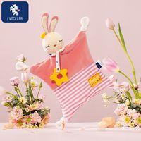 2021 EVOCELER Nibble Super Soft Bean Curd Muslin Blanket Cute comfort doll Baby Comforter Toy thumbnail image