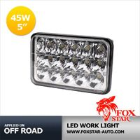 "4""x6"" 45W Square Auto DRL LED Headlight & Work Light"