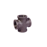 black malleable iron pipe fitting pipe cross