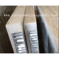 Stone honeycomb panel for wall envelope