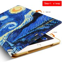 2018 customized Color printing Smart pu leather tablet cases for ipad new ipad 2017 9.7inch