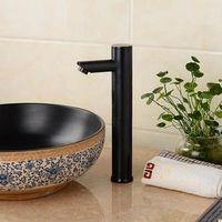 Antique Brass Black Bronze Bathroom Sink Tap Automatic Tap T0280