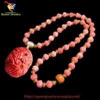I Really Like You jewelry Choker Necklace Pink Peach Blossom for Women baby Girl Precious Gem Pendan