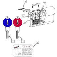 Snaking Computer Key Euro Cylinder 6pins