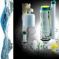 "Micro adjustable dual flush mechanism/ ultra quiet filling valve+ 2"" dual flush"