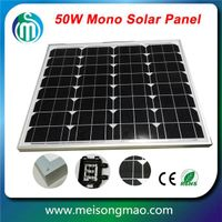 Bulk buy from China small solar panel 50W high efficiency monocrystalline solar module 50W