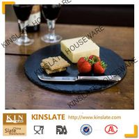 hot new products for 2015 round slate cheese plate with lacer printing wholesale