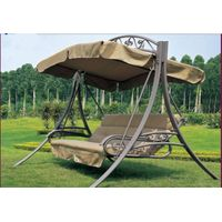 outdoor garden three person swing chair patio swing folding swing chair Garden villa swing/hammock