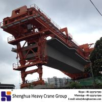 Custom-built 1800 ton launching gantry used span by span method for MRT bridge erection