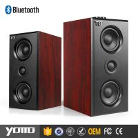 2.0 Computer speaker wooden bluetooth speaker sound system speaker for computer 2017