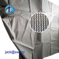 PVC coated Polyester Fireproof Building Mesh Sheet