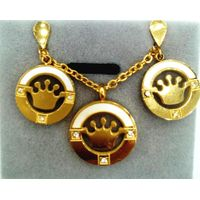 paparazzi jewelry reviews beautiful crown pendant hollowed out best electroplating necklace set thumbnail image