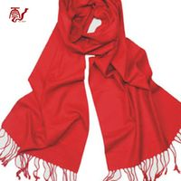 Red solid color winter bamboo fiber scarf