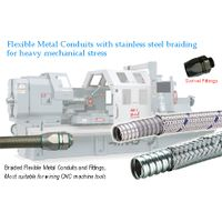 heavy series over Braided Flexible metal conduit heavy series conduit swivel fittings for CNC wiring thumbnail image