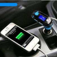 Universal 3.5mm Bluetooth Car Kit Audio Music Receiver Handsfree bluetooth Car speakerphone BT66 Wir thumbnail image