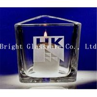 custom triangle candle holder with decal logo