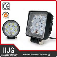 27w led work light motorcycle led fog lamp 12v-24v led folk light