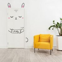 Bunny Room Door Stickers
