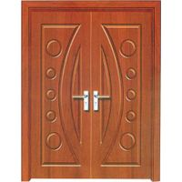 2015 Jiangshan pvc mdf wooden double door designs