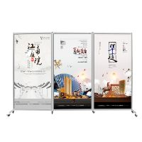 360 Degree Foldable Panel With Wheels Widly used at Art Exhibitions