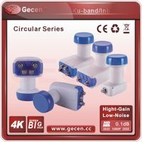 2016 Gecen Ku-Band Dual Polarity Circular Single LNBF