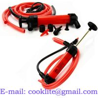Liquid transfer siphon pump kit / Double action Inflating fueling hand pump