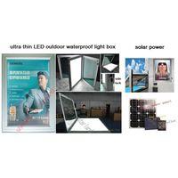 ultra thin outdoor solar power LED light box