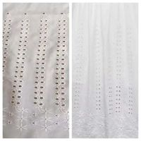 design cotton voile fabric with lace embroidery thumbnail image