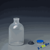 PP&PE vaccine serum bottle with rubber stopper