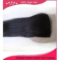 New arrival straight malaysian remy human hair free style 4*4 lace closure