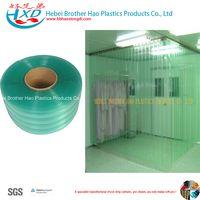 ESD Double Ribbed Green Plastic Vinyl PVC Strip Door Air Curtain thumbnail image