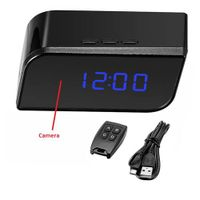 motion detection night vision hd camera clock hidden camera