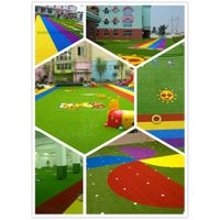 12 years factory pu backing kindergarden artificial grass turf