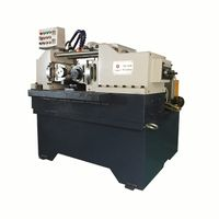 thru feed hydraulic thread rolling machine with two rollers
