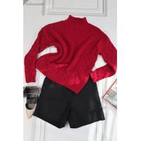 Eccellente Custom Autumn and Winter Women's Sweater Loose Solid Color Top Thickened Pullover Commute thumbnail image