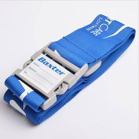 Custom New product polyester adjustable Luggage Strap belt with your logo