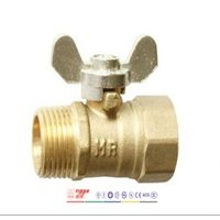 Brass Ball Valve with Zinc Alloy Butterfly Handle Art. T01090
