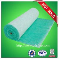 White and green paint spray booth floor filter material thumbnail image