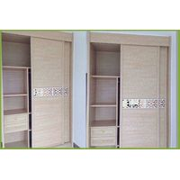 full aluminium walk in closet sliding door wardrobe