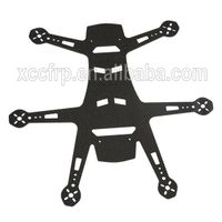 Factory precision 3K carbon fiber sheet CNC machining frame for hobby/UAV/helicopter/aircraft drones thumbnail image
