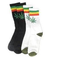 Men9s / men Leaf Pattern skater socks 16 species