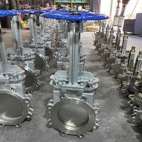 Carbon steel dn100 Sluice pneumatic knife gate valve