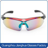 colorful lens adjustable temple sports cycling sunglasses fashionable men hot sun glasses