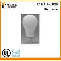 UL&ES A19 6.5w E26 LED dimmable bulb USA/Philips&Osram