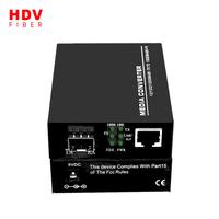 SFP Media Converter 10/100/1000 Base Media Converter 20km Fiber Optic Media Converter thumbnail image