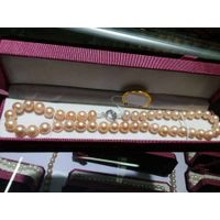Newest pearl jewelry wholesale cultured freshwater pearl necklace