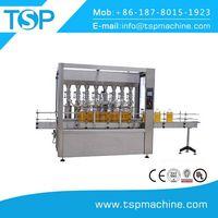 Small linear type glass bottle olive oil filling machine 1000bph thumbnail image