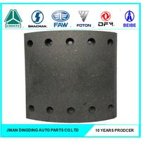Shacman truck front brake pad , Sinotruck rear brake linings 99000440027 99000440029 99000340068 thumbnail image