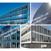 Pre-glazed Double Skin Unitized Glass Facade Curtain Wall Hidden Frame Design and Installation